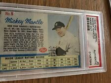 1962 Post Cereal  Baseball #5 Mickey Mantle New York Yankees PSA