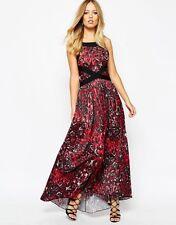 BNWT SUPERTRASH BLACK RED PRINTED DORY MAXI DRESS SIZE UK 12  EU 40 RRP £130