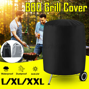 BBQ Grill Cover Barbecue Round Gas Smoker Covers Waterproof For Garden Patio