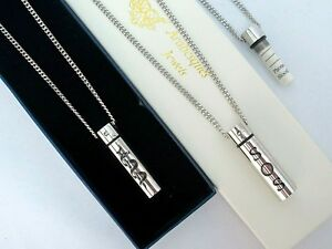 SOS NECKLACE/PENDANT MEDICAL ALERT/INFORMATION/STAINLESS STEEL TALISMAN. SILVER
