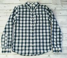 Small Men's Abercrombie Fitch Blue Check Muscle Fit Shirt S