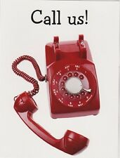 "*Postcard--CALL US!!--""The Classic Red Rotary Telephone"" /Picture/ (B490)"