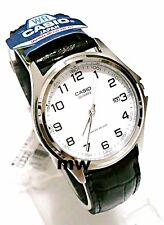Genuine Casio Black Leather White Dial Numbering Analog Men Watch MTP-1183E-7B