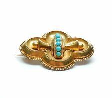 Turquoise Antique 15 carat gold Victorian brooch