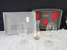 Pair Riedel Cabernet Crystal Glasses & Decanter Boxed