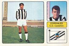 MANUEL CORRALES # CD.CASTELLON CROMO CARD CAMPEONATO DE LIGA 1973-74 FHER