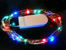 20 LED RGB CR2032 Battery String Light 2m long CW - UK Seller/Stock