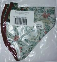 Longaberger 2002 Traditions Basket Liner ONLY American Holly NEW In Bag
