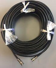 200ft BNC Male-Male Black RG6 75 Ohm HD-(CVI/TVI/SDI),CCTV,HDTV Video Cable