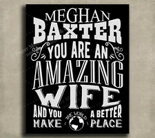 Wife Amazing Custom Plaque Tin Sign Gift From Husband Anniversary Wedding Val...