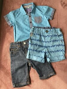 Ted Baker Baby Teddy Boy 0-3 3-6 Months Small Bundle  Shirt Jeans Shorts BNWOT