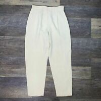 Dana Buchman 100% silk off white high rise wide leg pants size 14