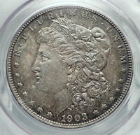 1903 UNITED STATES of America SILVER Morgan US Dollar Coin EAGLE PCGS MS i78487