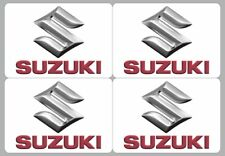 SUZUKI logo decal sticker, 4 pieces