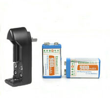 2 pcs Super big capacity 900MAH Li-Ion 9V 8.4v rechargeable battery +charger