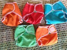 5 EUC Totsbots Totswraps Size 0 NEWBORN Reusable Nappy Covers.. see description.