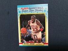 1988 Fleer Basketball Michael Jordan Sticker Card 7 of 11