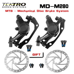 Tektro MD-M280 Mechanical Disc Brake with 160mm Rotor MTB Brakes Wire Control