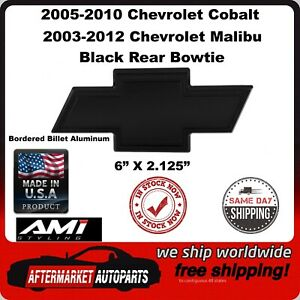 2003-2012 Chevrolet Malibu Black Aluminum Bordered Bowtie Rear Emblem 96140K