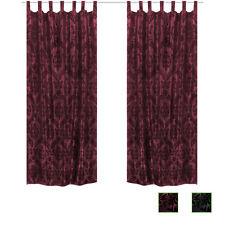 2er Set Vorhang Gardine Schlaufenschal Ornament Barock Taft mehrere Auswahl