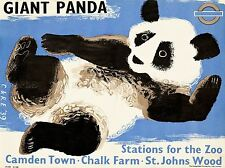 Viaggi turismo trasporti Londra ZOO GIGANTE PANDA METROPOLITANA METRO POSTER UK lv4283