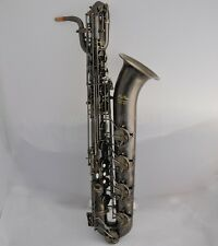 Professional Taishan Antique Eb baritone saxophone 2 neck germany mouthpiece