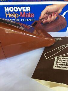 Vintage Hoover S1071 Help Mate Handheld Car Camper Detail Vacuum Cleaner Tested