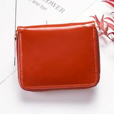 Womens Wallet Mirror Leather Coin purse Zipper Candy Color Girls Card Holder