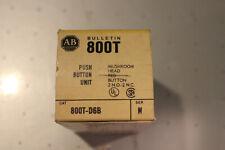 Allen Bradley Mushroom Push Button  800T-D6B Series N New