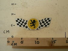 STICKER,DECAL PEUGEOT ? CAR MOTO MOPED FINISH FLAG  VINTAGE RETRO RARE STICKER