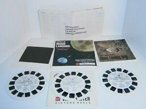 1969 Vintage Viewmaster Moon Landing 3 reels, booklet and original package