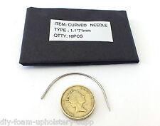 "Pacco da 10 CURVO Tappezzeria Mano Cucito Ago 1.18 mm x 70 mm (2 3/4 "") (lcn1.18 X70)"