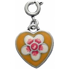 New Brighton ABC SPRING FEVER Yellow Heart Snap Charm Bead   RETIRED