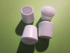4 Stuhlbeinkappen weiß 20 mm,  Möbelgleiter Filzgleiter Kappen Stuhlkappen