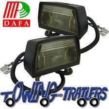 2 trailer number plate lights DAFA for trucks, pickups, trailers
