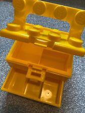💛Rare Yellow Lego Brick Compartment Storage Box Chest Carry Case Like Head💛