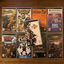 Sony PSP PlayStation Portable PROMO UMD lot 9 games in box Patapon Ratchet Clank