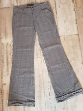 Hose Gr. S / 36 von Fishbone in Grau /schwarz/ Weiß kariert