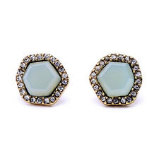 New Sand + Sky Stud Earrings Sparkling Light Peach Crystal Pavé Brand Designer