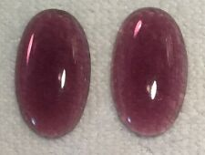 VINTAGE  TRANSPARENT CABOCHON AMETHYST GLASS JEWELS 10 PIECES   PURPLE
