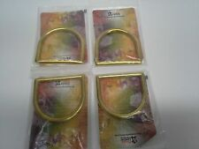 """Set of 4 (Four) 2"""" - 51mm Solid Brass Cast D Rings Tandy Leather 1129-06 - F/S!"""