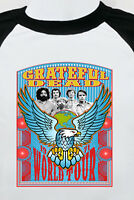 GRATEFUL DEAD  new T SHIRT  rock jerry garcia ALL SIZES s m lg xl bw raglan