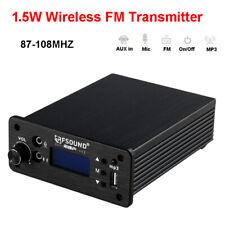 RFSOUND CD-01 1.5W PLL FM Transmitter Radio Stereo Wireless Broadcast AUX in Mic