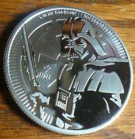 2019 Niue Darth Vader Star Wars 1 oz .999 Silver Round Coin BU