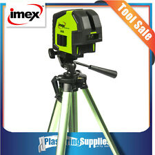 Imex 2 Line Green Beam Cross Line Laser Level & Tripod LX22G