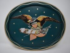 Vintage Oval tray with Eagle and American Flag