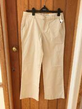 gap stone chino trousers perfect khakis below waist bnwt 6 8 12 wide leg