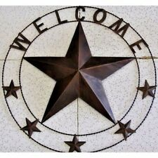 "29"" WELCOME BARN STAR MESH WIRE METAL WALL ART RUSTIC BRONZE WESTERN HOME DECOR"