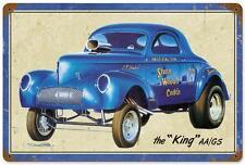 Hot Rod Gasser Willys Drag Race Metal Sign Man Cave Garage Body Shop Club SWC001