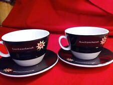 2 Switzerland Cups & Saucers, Langenthal, excellent shape, no chips or cracks